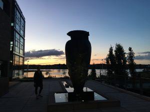 Vase foran Silkeborg Langsø